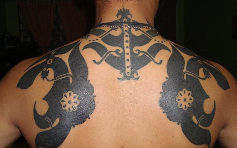 tattoo of an iban from borneo ibanology. Black Bedroom Furniture Sets. Home Design Ideas